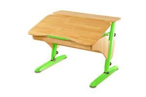Детская парта растишка стол трансформер Понди Эргономик из натурального дерева Бук