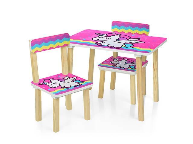 бу Детский стол с двумя стульчиками Bambi 501-64 Малиновый единорог  в Украине