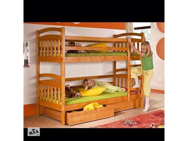 купить бу Двухъярусная кровать Иринка с ящиками + матраси в Василькове