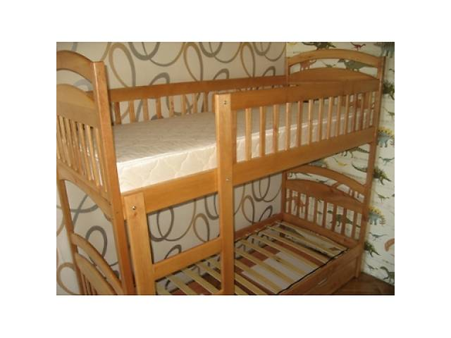 купить бу Двох'ярусне ліжко трансформер Каріна з вільхи від виробника в наявності в Києві