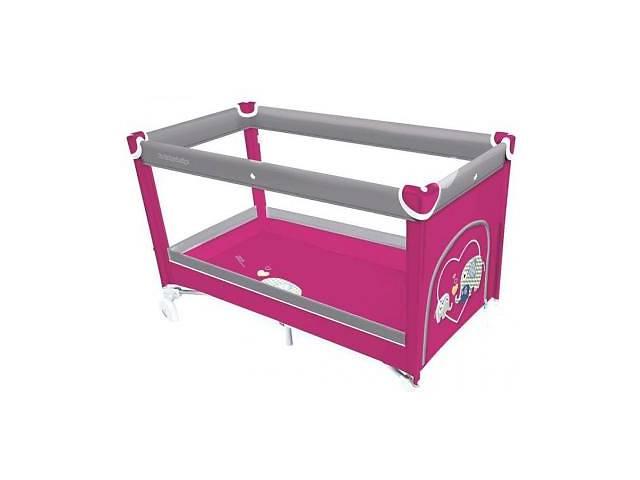 продам Дитячий манеж Baby Design Simple рожевий (20052) манеж-ліжко, від народження, бічні дверцята, колеса бу в Киеве