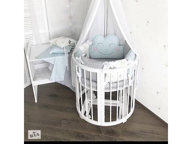 бу Кругле ліжечко трансформер. круглая кроватка 7в1 в Тернополе