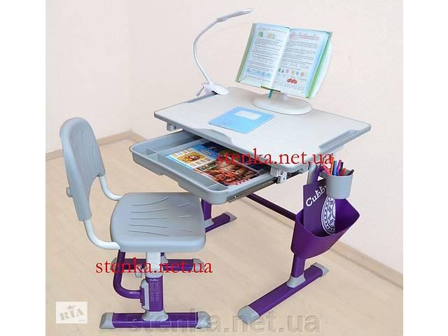 продам Парта и стул. Лампа и подставка для книг. Стол, стул. Доставка бесплатно бу в Киеве