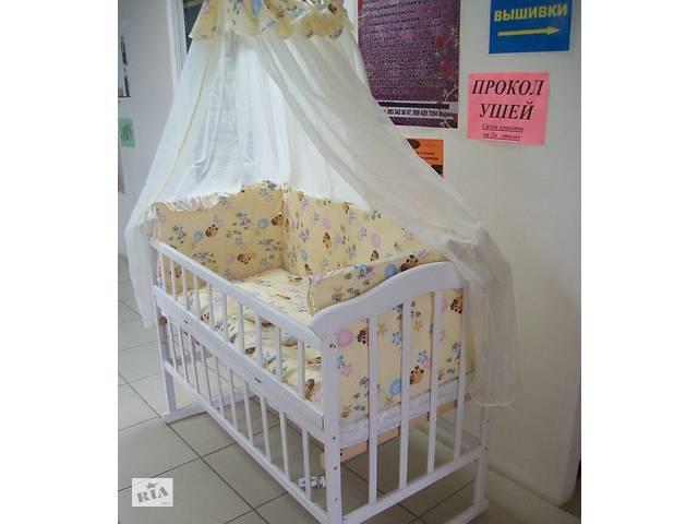 купить бу Детское постельное белье в кроватку  9 в 1 Gold БЕЖ РАЗНЫЕ рисунки в Львове