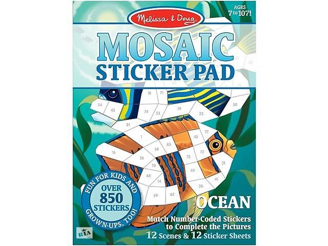 продам Набор для творчества Melissa&Doug Мозаичные наклейки Океан (MD30161) бу в Киеве