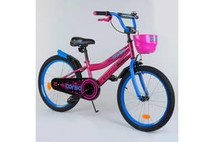 """Велосипед 20"""" дюймов 2-х колёсный R - 20498 """"CORSO"""", новый ручной тормоз, звоночек, корзинка"""