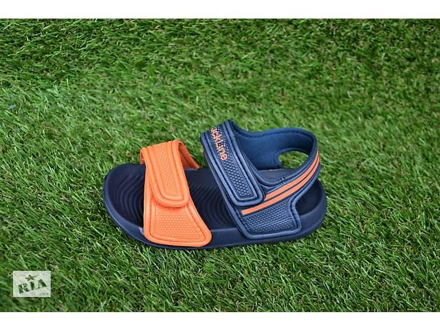 бу Детские пляжные босоножки сандалии пена синий оранжевый р24-29 в Южноукраинске