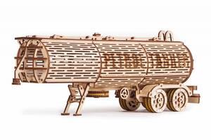 """3D пазл """"Прицеп цистерна"""" деревянный конструктор"""