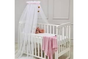 Балдахин Happy Baby с розовой лентой