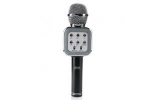 Беспроводной аккумуляторный Bluetooth караоке микрофон Wster WS-1818 Черный (par_1818_11)