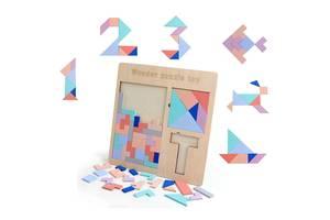 "Деревянная Головоломка 3 В 1 Тетрис, Танграм, Пятнашки - ""Wooden Puzzle Toy"""