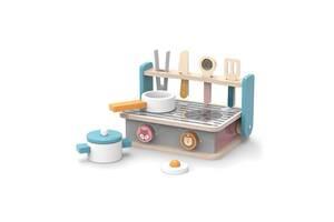 Деревянный детский набор кулинара Складная плита с грилем Viga Toys PolarB, 12 шт