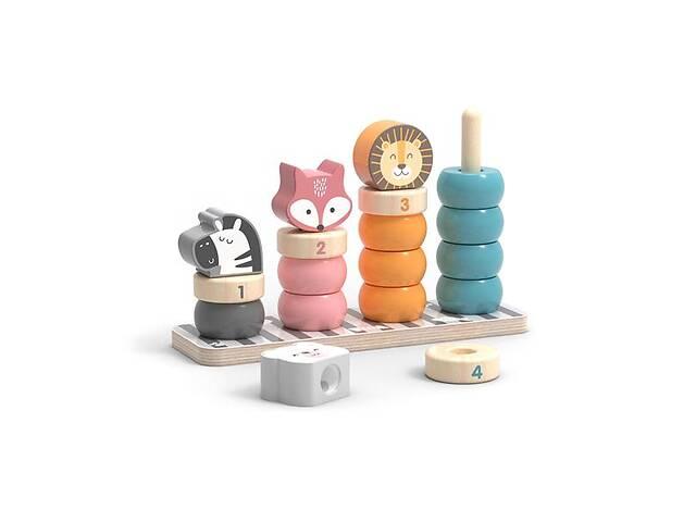 купить бу Деревянный сортер-пирамидка Viga Toys PolarB Зверята (44022) в Киеве