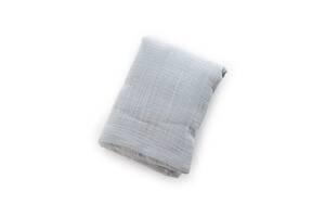 Детская муслиновая пеленка Twins 120х100 гипоаллергенная, 2-х слойная, серая