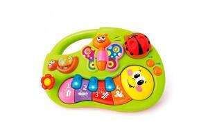 """Детская музыкальная игрушка со световыми эффектами на батарейках """"Веселое пианино"""" Hola Toys"""