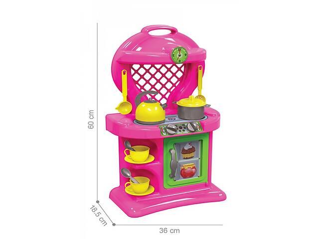 Детская яркая пластиковая игровая КухняТехноК с вытяжкой и посудой, розовая. Интересные подарки для девочек- объявление о продаже  в Киеве