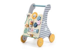 Детские ходунки-каталка Viga Toys PolarB с бизибордом (44028)