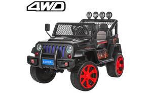 Детский электромобиль джип M 3237EBLR-2-3 черно-красный