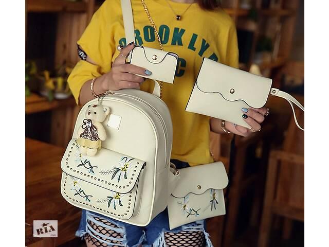 бу Детский комплект рюкзак сумочка клатч кошелек визитница 4 в 1. Рюкзачок сумка детская набор в Днепре (Днепропетровск)