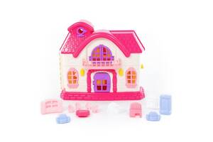 Детский кукольный домик Сказка с набором мебели,12 элементов - Полесье