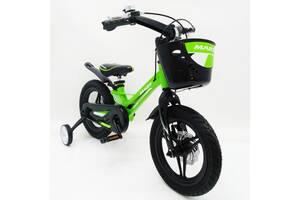 Детский легкий магниевый велосипед со складным рулем MARS 2 Evolution -16 Д зелёный