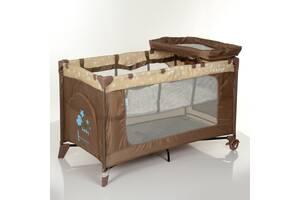 Детский манеж-кровать El Camino ME 1054 SAFE PLUS Stars Beige для играющего малыша