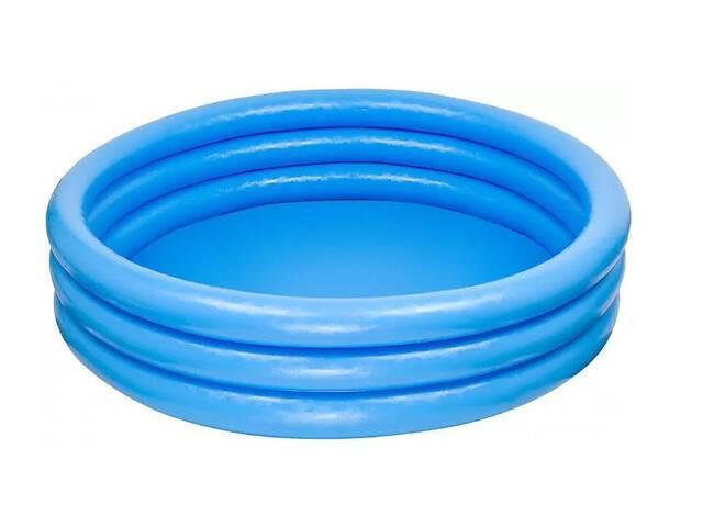 Детский надувной бассейн круглый с ненадувным дном Intex на 330 литров, голубой- объявление о продаже  в Киеве