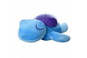 Детский ночник-проектор Черепашка SlumberBuddies, голубой