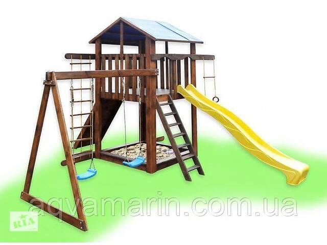 Детский игровой комплекс с качелями Babygrai -2