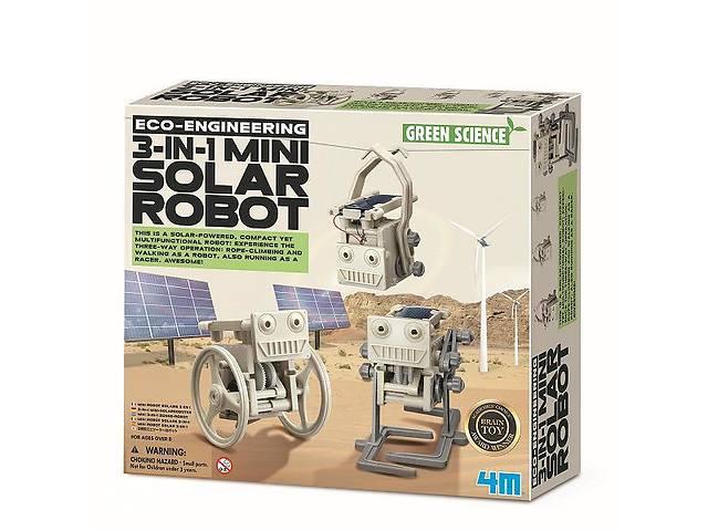 продам Детский игровой набор для творчества 4M Робот на солнечной батарее 3-в-1 бу в Киеве