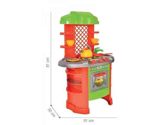 бу Детский игровой набор Кухня 7 пластиковая ТехноК с посудой, духовкой и мойкой, оранжевая 25 предметов в Киеве