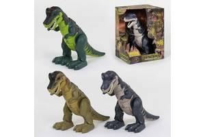 Динозавр WS 5302 (12/2) 3 вида, ходит, подсветка, звук, на батарейке, в коробке