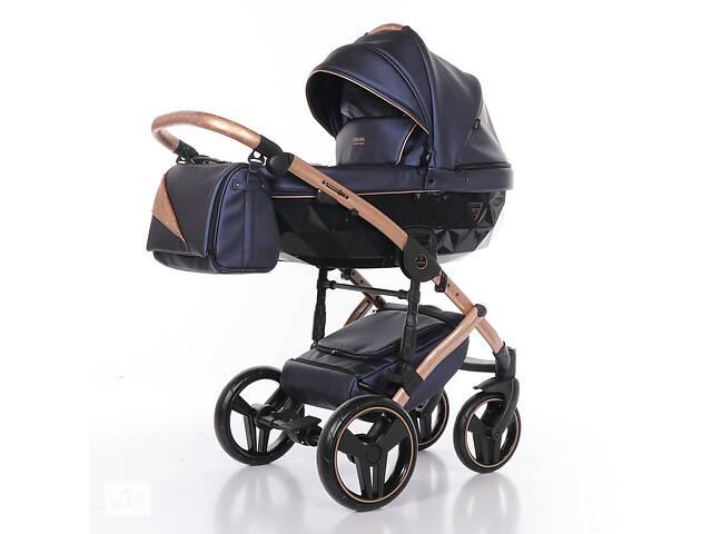 Дитяча коляска 2 в 1 Junama Diamond Fluo line II синя 02