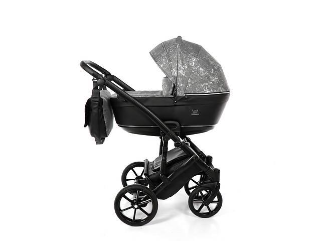 Дитяча коляска 2 в 1 Tako Corona Angabowana 03 срібна з чорним