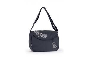Эргономичная сумка длядетскойколяскиBaby Breeze 0355 с водоотталкивающей пропиткой графит