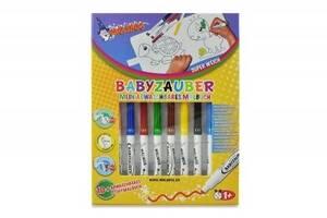 Фломастеры Malinos смываемые для малышей Babyzauber с раскраской, 10 шт SKL17-149644