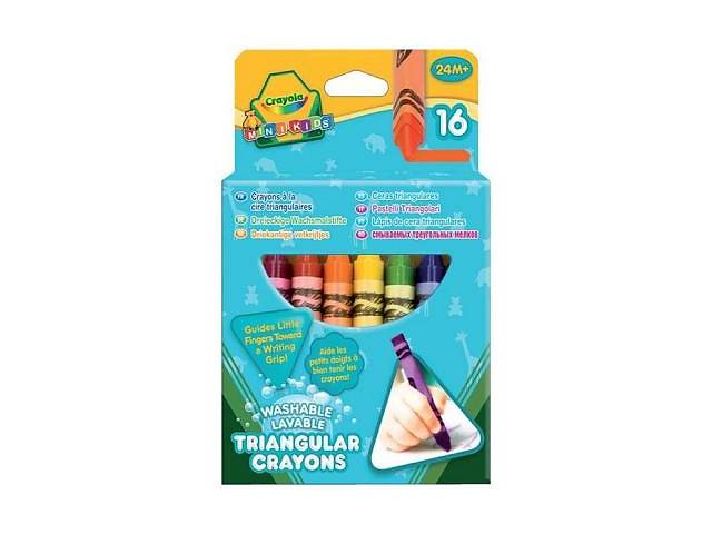 продам Карандаши цветные Crayola 16 трехгранных восковых мелков (52-016T) бу  в Украине