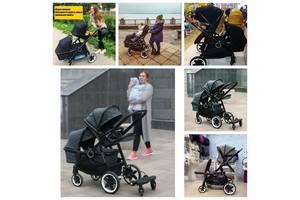 Коляска BabyZz Dynasty для двойни и погодок люлька + прогулка  Цена за люльку + прогулку 9350 грн. + Подарок