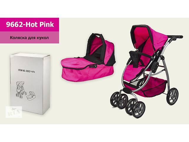 продам Коляска трансформер 2в1 для куклы 9662 Hot Pink с регулируемой ручкой 2 съемные люльки бу в Одессе