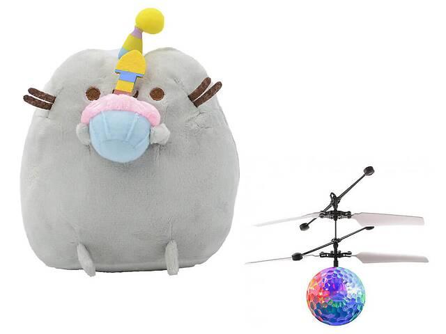 продам Комплект Мягкая игрушка кот с кексом Pusheen cat и Летающий светящийся шар JM-888 (vol-734) бу в Киеве