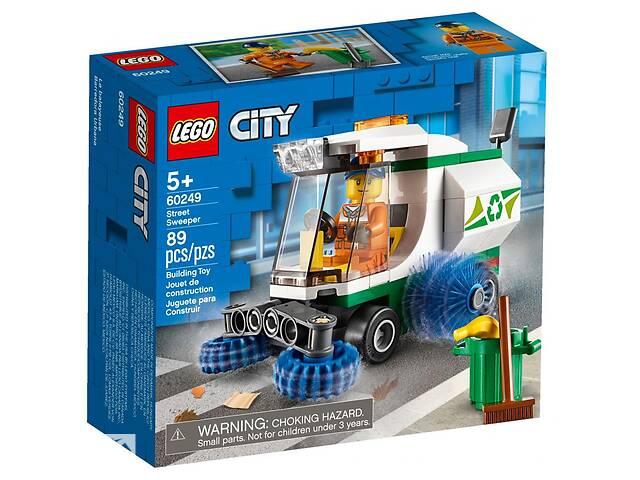 купить бу Конструктор LEGO City Great Vehicles Машина для очистки улиц 89 деталей (60249) в Киеве