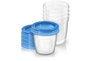 Контейнеры для хранения грудного молока Philips Avent (SCF619/05) 180 мл, 5 шт