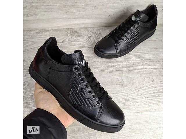 продам Кожаные кеды Armani Jeans Black бу в Вознесенске