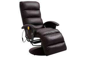 Крісло м'яке для масажу еко-шкіра vidaXL 248482 в кольорах