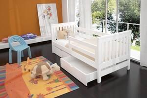 Кровать детская и подростковая с ящиками одноярусная.  Адель.