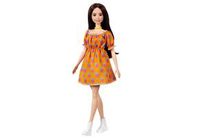 Кукла Барби Модница в платье в горошек с открытыми плечами Barbie Mattel Оригинал (GRB52)