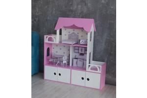 Кукольный дом 3 этажа Шкафчики для игрушек