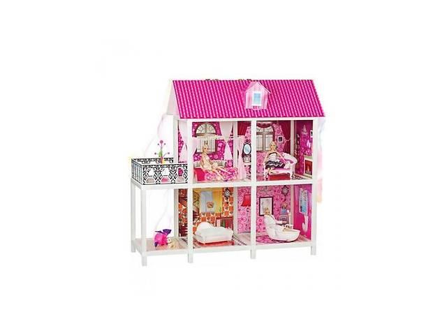 бу Кукольный домик для кукол БарбиMetr+с мебелью, 3куклы, 2 этажа в Киеве