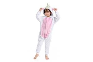 Кигуруми детская Kigurumba Единорог Хайер XL - рост 135 - 145 см Бело-розовый (K0W1-0113-XL)