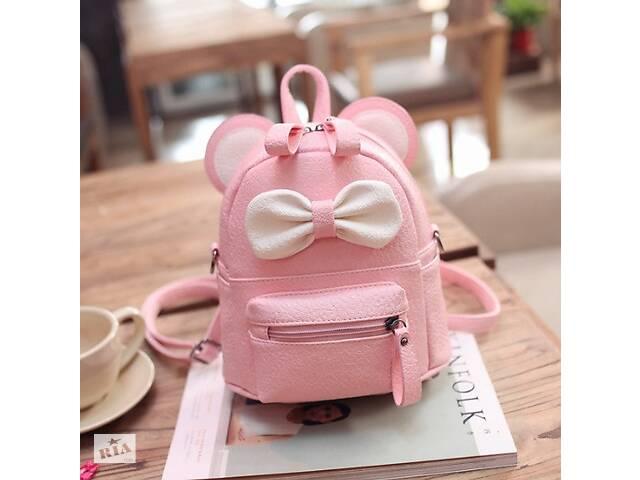 продам Маленький детский рюкзак сумочка Микки Маус с ушками. Мини рюкзачок сумка для ребенка 2 в 1 Розовый бу в Днепре (Днепропетровск)